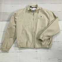 Polo Ralph Lauren Beige Zip Up Jacket Men Size Medium Photo