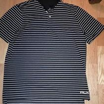 Polo Ralph Lauren Black Striped Rlx Mens Polo Large Photo
