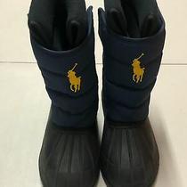 Polo Ralph Lauren Boots Snow Winter Kids Boy Blue Lined Us 3 Eur 34 Photo