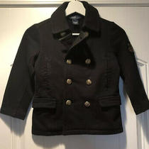Polo Ralph Lauren Boys Black Jacket With Gold Buttons Size 5-6 Photo