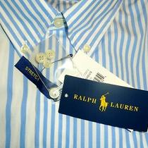Polo Ralph Lauren Button Down Oxford Shirt Blue White Striped Classic Fit  L Nwt Photo
