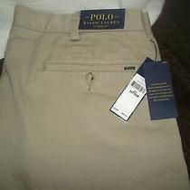 Polo Ralph Lauren Classic Fit Hudson Tan Pants  Sz. 36tx 36 / New With Tags Photo