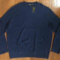 Polo Ralph Lauren Classics 2 Sweater Mens Xxl Blue Cotton Linen Crew 125 Photo