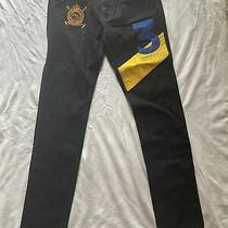 Polo Ralph Lauren Embroidered Pants Jeans Black Edition 100% Cottom size.30 Photo
