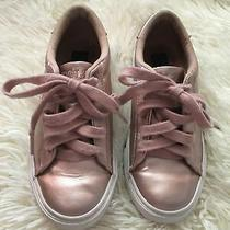 Polo Ralph Lauren Girls Rose Gold Tennis Sneakers Size 1 Photo