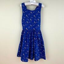 Polo Ralph Lauren Girls Blue Sailboat Cotton Jersey Dress 6 Nwt Photo