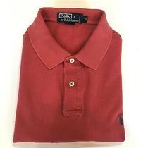 Polo Ralph Lauren Gold Dot Polo Shirt Men's Xl 100% Cotton Mauve Photo