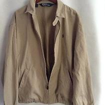 Polo Ralph Lauren Large Beige Tan Bomber Jacket Photo