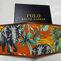 Polo Ralph Lauren Leather Material Bifold Wallet  Elephant Photo