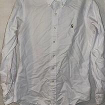 Polo Ralph Lauren Long Sleeve Button Down Oxford - Mens Small - White Photo