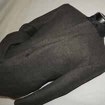 Polo Ralph Lauren Men's Gray Check Flannel Wool Jacket Coat 48 R Photo