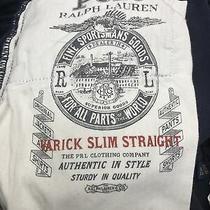 Polo Ralph Lauren Men's Navy Blue Varick Slim-Straight Corduroy Pants 32-30 Photo