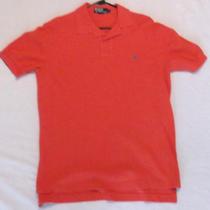 Polo Ralph Lauren Men's Red Polo Shirt Sz Medium Guc Free Shipping Photo