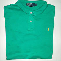 Polo Ralph Lauren Mens X-Large Xl S/s Polo Shirt Aqua Green Perfect Condition Photo