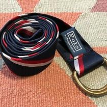 Polo Ralph Lauren Olympic Games Belt 2012 Red White Blue Striped Silk  Photo