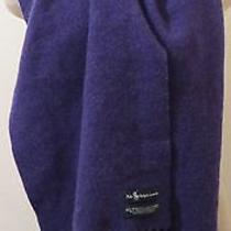 Polo Ralph Lauren Purple 100% Pure Lambs Wool Scarf With Fringe Photo