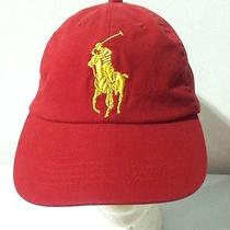 Polo Ralph Lauren Rl Big Pony Fragrance Collection Hat Cap Red and Gold Photo