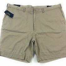 Polo Ralph Lauren Shorts Mens Big & Tall Classic Fit Hudson Tan Flat Front Khaki Photo