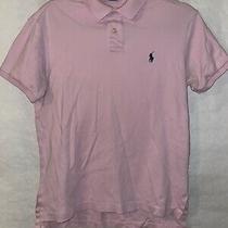 Polo Ralph Lauren Soft Cotton Polo Shirt - Mens Small Custom Fit - Pink Photo