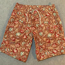 Polo Ralph Lauren Swim Trunks Board Shorts Mens 32 Floral Print - Excellent Photo