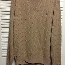 Polo Ralph Lauren Tussah Silk Cable Tan Sweater Xl Men Photo