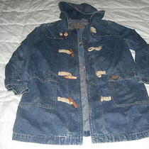 Polo Ralph Lauren Womens Denim Toggle Bolt Jacket Size P/s Hooded Toggle Bolt Photo