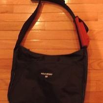 Polo Sport Ralph Lauren Black Nylon Cross Body Messenger Bag 12x14 Photo