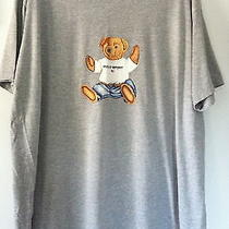 Polo Sport Ralph Lauren Xl Teddy Bear T-Shirt Gray Soft Cotton Blend Good Cond Photo