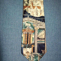 Pompeian Frescos Silk Tie Multi Color Elements From Roman Wall Paintings Unicef Photo