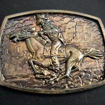 Pony Express 125th Year Commemorative Belt Buckle (45918) Photo