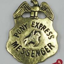 Pony Express Badge - Antique Finish - Messenger Costume Photo