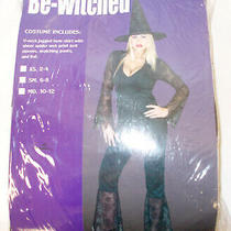 Pony Express Black Be-Witched Costume Outfit S 6-8 Nip Photo