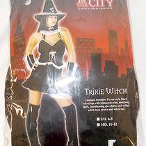 Pony Express Black White Trixie Witch Costume Outfit S 6-8 Nip Photo