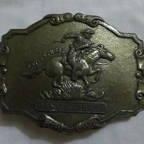 Pony Express Vintage Brass Belt Buckle Photo