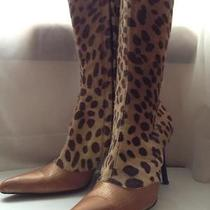 Pony Hair Calf Hair Leopard Print Cheetah Print Size 9.5  Photo