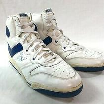 Pony Nba Tony Campbell Basketball Game Used Sneakers Dual Signed Sz 13.5 Rare Photo