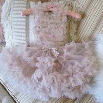 Popatu Beige Blush Pink Tutu Petti Ruffles Ruffled Dress 24 Months Toddlers Nwt Photo