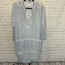 Porridge Anthropologie Tunic Top Dress Light Blue Size Medium Photo