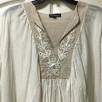 Positano by Jean Paul Cream Colored One Size Bohemian Top From Italy Photo