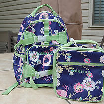 Pottery Barn Girl's Mackenzie Blue Bird Small Backpack & Lunchbox