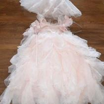 Pottery Barn Kids 3t Monique Lhuillier Blush Pink Fairy Dress Up Costume No Wing Photo