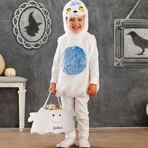 Pottery Barn Kids Abominable Snowman Costume Size 2-3 T. Treat Bag New With Tags Photo