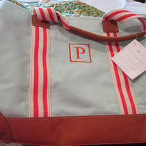 Pottery Barn Kids Aqua Classic Mom Diaper Bag Monogrammed