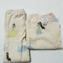 Pottery Barn Kids Castle Organic Tight Fit Pajamas - 3t - in Blush  Photo