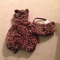 Pottery Barn Kids Cheetah Costume Halloween 2-3t New  Treat Bag Photo