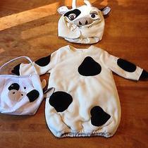 Pottery Barn Kids Cow Halloween Costume Dress Up With Treat Bag 12-24 Mo 2t Photo