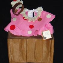 Pottery Barn Kids Cupcake Costume  Treat Bag Size 2t 3t Halloween New Pink Cake Photo