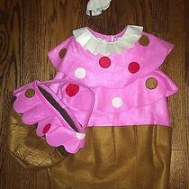 Pottery Barn Kids Cupcake Halloween Costume 2t-3t (Includes Treat Bag) Photo