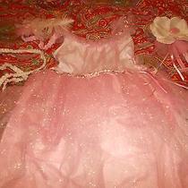 Pottery Barn Kids Fairy Princess Costume 7-8 Blush 4 Piece Design Photo