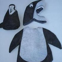 Pottery Barn Kids Felt Shark Costume & Candy Bag Sz 2t 3t Photo